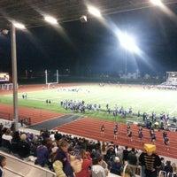 Photo taken at Wildcat Memorial Stadium by Tre' E. on 11/8/2014