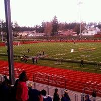 Photo taken at Wildcat Memorial Stadium by Tre' E. on 3/21/2013