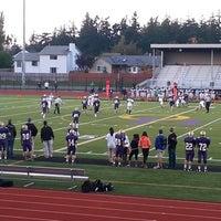 Photo taken at Wildcat Memorial Stadium by Tre' E. on 10/17/2013