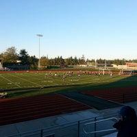 Photo taken at Wildcat Memorial Stadium by Tre' E. on 10/29/2013
