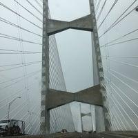 Photo taken at Napoleon Bonaparte Broward (Dames Point) Bridge by Natalie M. on 1/6/2013