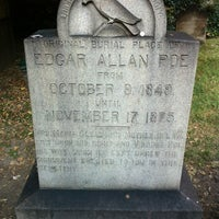 Photo taken at Grave of Edgar Allan Poe by Phil M. on 9/7/2013