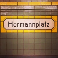 Photo taken at Hermannplatz by Taylor on 1/27/2013