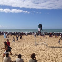 Photo taken at Quiksilver Pro France (Plage des Culs Nus) by laurent b. on 9/30/2012