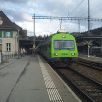 Photo taken at Bahnhof Langnau i.E. by Yuri L. on 5/11/2013