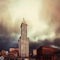 Photo taken at Smith Tower by Tanner Wendell S. on 1/16/2013