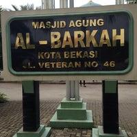 Photo taken at Masjid Agung AL-BARKAH Bekasi ® by InDy N. on 1/26/2014