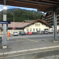 Photo taken at Bahnhof Gstaad by Xin S. on 8/19/2016