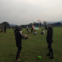 Photo taken at Taman Layang-Layang (Kite Flying) Kepong by Nurliana N. on 8/23/2014