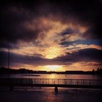 Photo taken at Tjörnin by Audunn J. on 12/31/2012