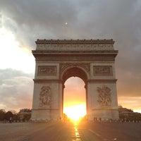 Photo taken at Arc de Triomphe by César G. on 5/13/2013