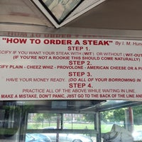 Photo taken at Pat's King of Steaks by Dino T. on 5/29/2013