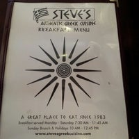 Photo taken at Steve's Greek Cuisine by George D. on 1/12/2013