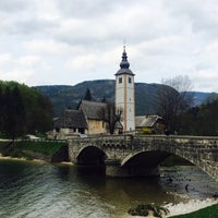 Photo taken at Bohinjsko jezero (Bohinj Lake) by Natali V. on 4/25/2015