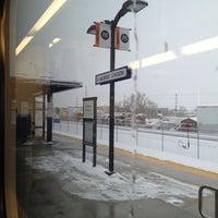 Photo taken at UTA FrontRunner Murray Station by Gabe G. on 1/11/2013
