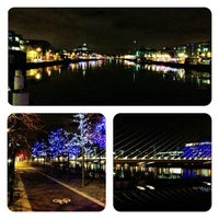Photo taken at The River Liffey by Christian H. on 1/25/2013