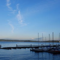 Photo taken at Leschi Park by Ahmet on 7/7/2016