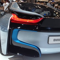 Photo taken at BMW at the NY International Auto Show by Eric M. on 4/14/2012