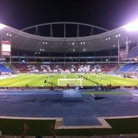 Photo taken at Olympic Stadium (Engenhão) by Marcio C. on 7/19/2012