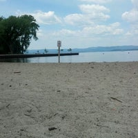 Photo taken at Croton Point Beach by Iris G. on 7/3/2012