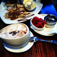 Photo taken at Max Brenner Chocolate Bar by Hanne H. on 8/12/2012