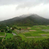 Photo taken at Hanalei Valley Lookout by Jane H. on 2/21/2013