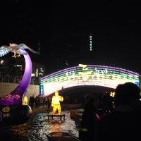 Photo taken at 광통교 by Jin P. on 11/3/2013