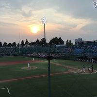 Photo taken at Cheongju Baseball Stadium by Stonian K. on 8/17/2016