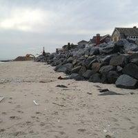 Photo taken at Karge Street Beach by Alex B. on 1/17/2013