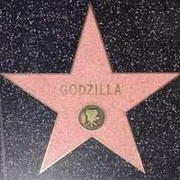 Photo taken at Godzilla's Star, Hollywood Walk of Fame by ChaunceyCC on 4/11/2014