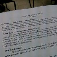 Photo taken at Unidad Universitaria de Rehabilitacion by Lucía P. on 6/1/2016