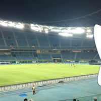 Photo taken at Jaber AlAhmad International Stadium by yousef a. on 9/28/2016