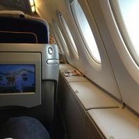 Photo taken at Lufthansa Flight LH 440 by Sean M. on 7/29/2013