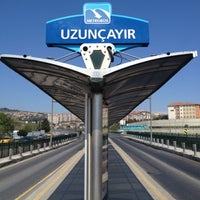 Photo taken at Uzunçayır Metrobüs Durağı by FK on 4/12/2012