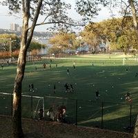 Photo taken at 101 Street Soccer Field by Nancy K. on 10/29/2013