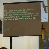 Photo taken at Igreja São João IECLB by Paulo D. on 6/20/2013