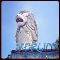 Photo taken at The Merlion (Sentosa) by Rathtavit L. on 6/6/2013