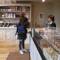 Photo taken at Chocolatier Luc Van Hoorebeke by Vincent V. on 1/2/2014
