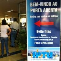 Photo taken at Prefeitura de Campinas by Fabiano F. on 12/10/2012