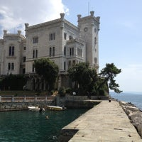 Photo taken at Castello di Miramare by Claudio C. on 8/8/2013