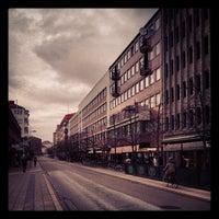 Photo taken at Gustav Adolfs torg by Joakim J. on 3/9/2012