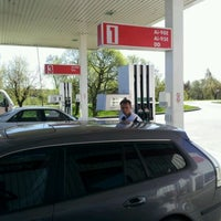 Photo taken at Lukoil by Martins O. on 5/1/2012