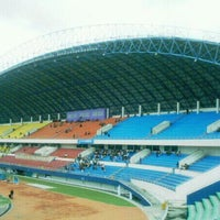 Photo taken at Stadion Gelora Sriwijaya (GSJ) by Edisusanto on 11/12/2011