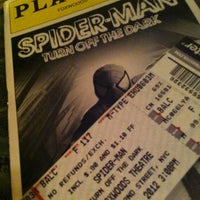 Photo taken at Spider-Man: Turn Off The Dark at the Foxwoods Theatre by Amadeu P. on 6/3/2012