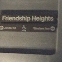 Photo taken at Friendship Heights Metro Station by Danny G. on 11/6/2011