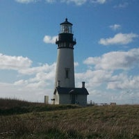 Photo taken at Yaquina Head Lighthouse by Jacy on 3/18/2012