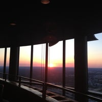 Photo taken at Sun Dial Restaurant, Bar & View by Michael F. on 5/11/2012