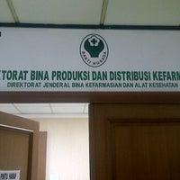 Photo taken at Direktorat Bina Produksi dan Distribusi Kefarmasian by Zulfikar B. on 10/12/2011