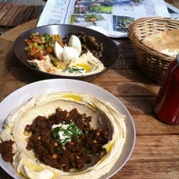 Photo taken at Reggev Hummus by Staffan H. on 6/5/2011