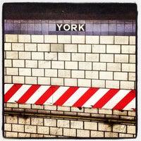 Photo taken at MTA Subway - York St (F) by Marceli L. on 8/31/2012